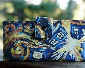 Fantastic exploding Tardis Dr. Who custom iphone wallet