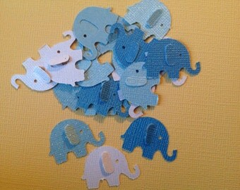 Elephants on Parade  Paper Elephants 50 pc  New Baby Shower  Confetti  Table Decorations