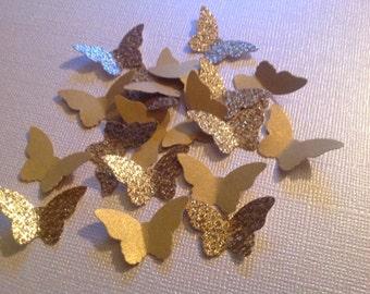 Beautiful  Golden Paper Butterflies 100 pc   Wedding  Reception  Bridal Shower