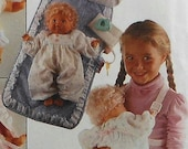 Doll Carrier and Diaper Bag Sewing Pattern UNCUT McCalls 7398 accessories