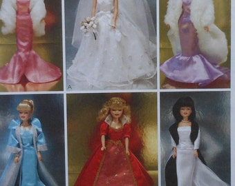 """11.5"""" Fashion Doll Clothes Sewing Pattern UNCUT McCalls 3138 gown"""