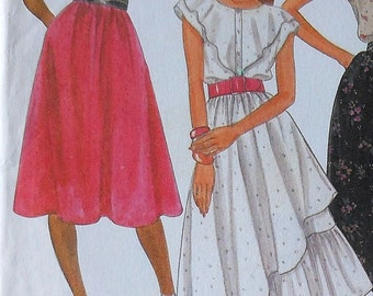 Vintage Top and Skirt Sewing Pattern UNCUT McCalls 8052 Size 10 ruffled