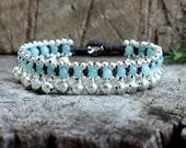 Aquamarine Jingling Silver Bracelet