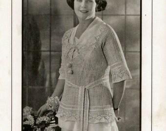 Vintage 1920s Downton Abbey Era Sweaters Knit Crochet Instant Download Patterns