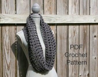 Crochet Pattern Infinity Scarf Lattice PDF