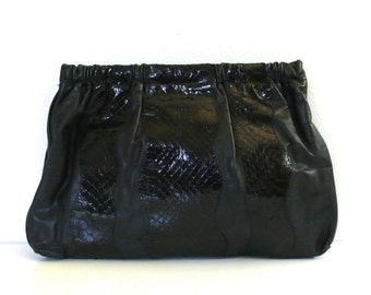 Vintage Du Clai Dallas // Snakeskin Clutch/Purse