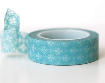 Washi masking tape Aqua Circle Petal Washi Tape
