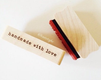 Handmade With Love STAMP Typo Handmade With Love Rubber Stamp