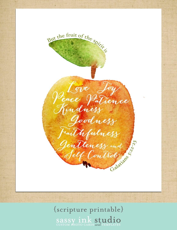 Printable Wall Art The Fruit of the Spirit Printable