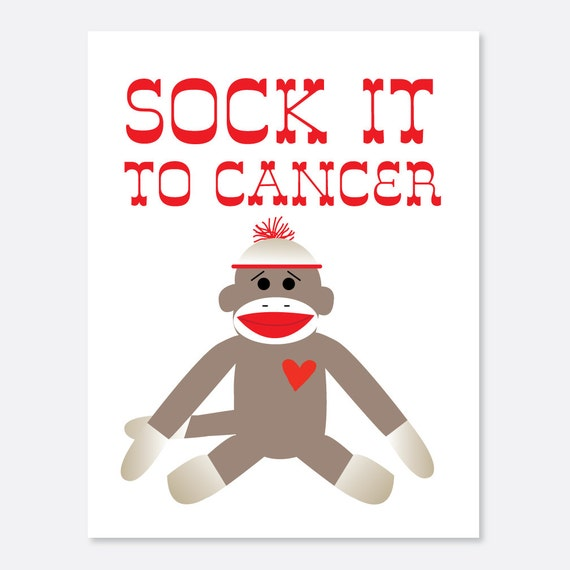 Sock it to Cancer Warrior/Cancer Card