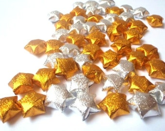 Origami Lucky Stars - Gold & Silver (custom orders available)