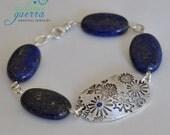 Lapis Lazuli and Sapphire Bracelet