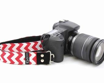 Chevron Red SLR Fashion Camera Strap