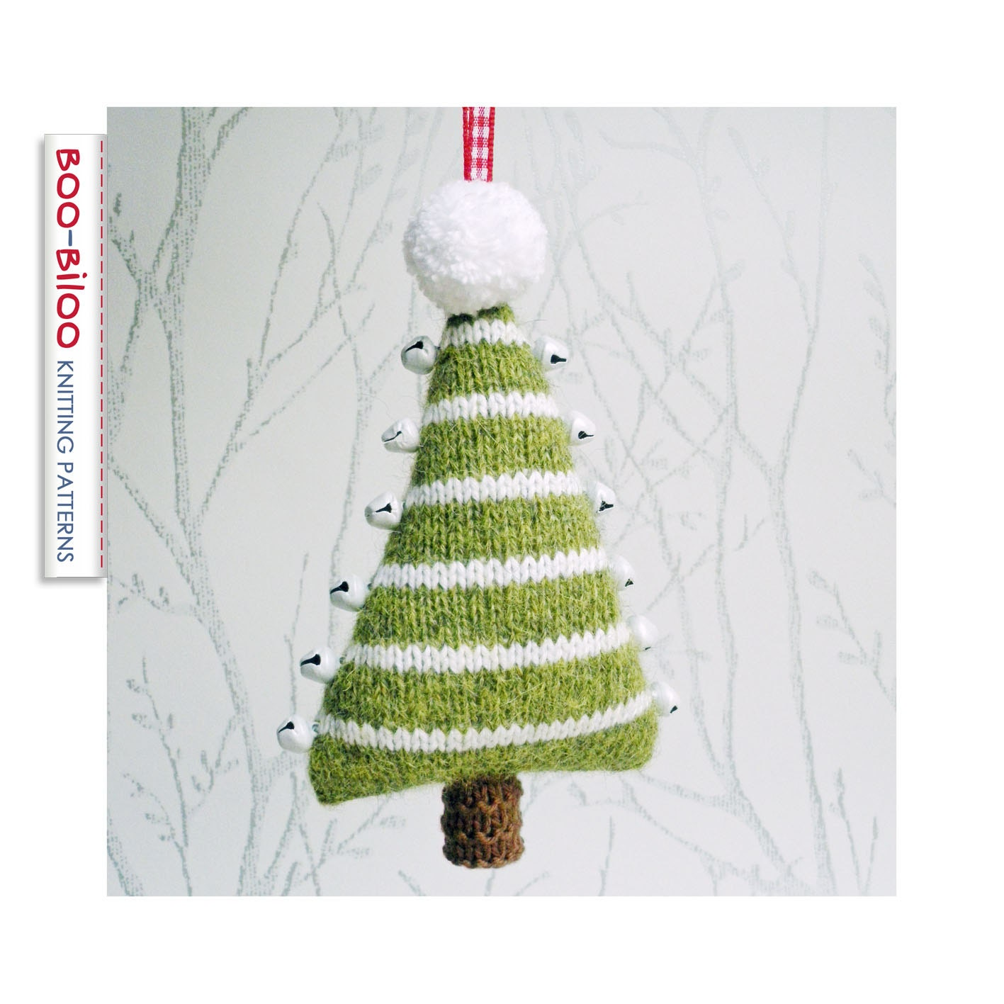 Jingle Bells Christmas Tree Knitting Pattern Hanging
