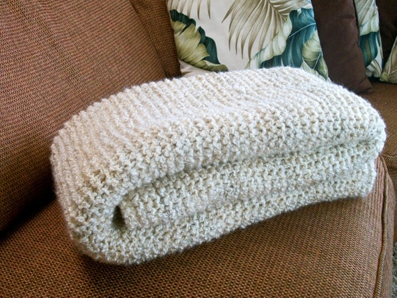 Hand Knitted Wedding Blanket super soft by ...
