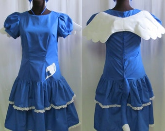 Fairy Tail Happy Lolita Cosplay Costume Size 4 6 8 10 12 14