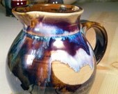 Pottery Pitcher Amber Glazed Porcelain Creamer
