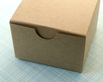 Kraft Gift Box - 3 x 3 x 2 inches - Party Favor Box (6)