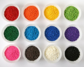 Cupcake Sprinkles - Assorted Mix of Jimmies (12 oz) - Cupcake Sprinkles, Cookie Sprinkles