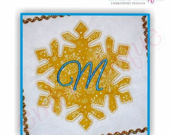 Snowflake Applique - Small- Instant Email Delivery Download Machine embroidery design