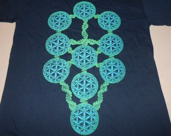 T-Shirt - DNA Tree Of Life (Green/Blue)