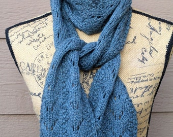 KNITTING PATTERN-Ripples and Lace, Scarf Pattern