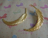 5pcs 90x17mm Big Feather gold color Retro Pendant Charm For Jewelry Pendant