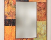 40 x 30 Metal and Copper Mirror