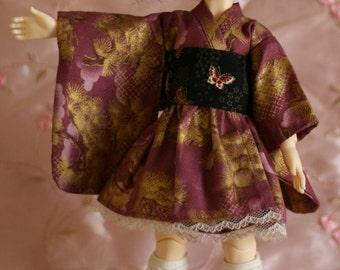 Purple butterflies - Wa Loli Lolita dress for Yosd BJD
