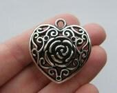 1 Heart pendant tibetan silver H84