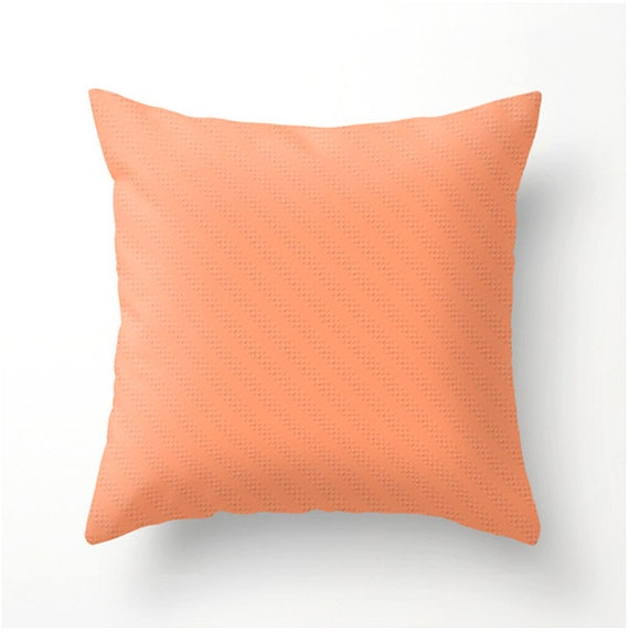 Peach Decorative Throw Pillows : Items similar to Deep Peach Decorative Throw Pillow colorful accent cushion, home decor, scatter ...