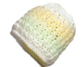 Crossed Puff Stitch - Newborn to 3 Month Size Baby Daisy or Made in Your Choice of Color