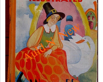 Mother Goose  Nursery Art  Nursey 1929 Rhymes  Digital Printable Download PDF Great Wall Art