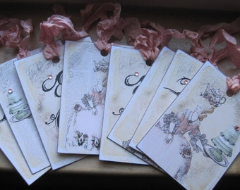 NEW french market assorted marie antoinette tags set of 8
