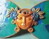 Art Nouveau Fairy Barrette, One of a Kind Fantasy Hair Clip, Wearable Art