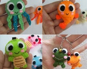 Sea Creature Collection (Jellyfish, Fish, Tortoise, Frog) - PICK ONE