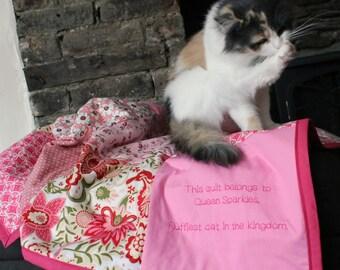 Cat Blanket / pet blanket / pet accessories / kitten blanket / personalised pet blanket / cat bedding