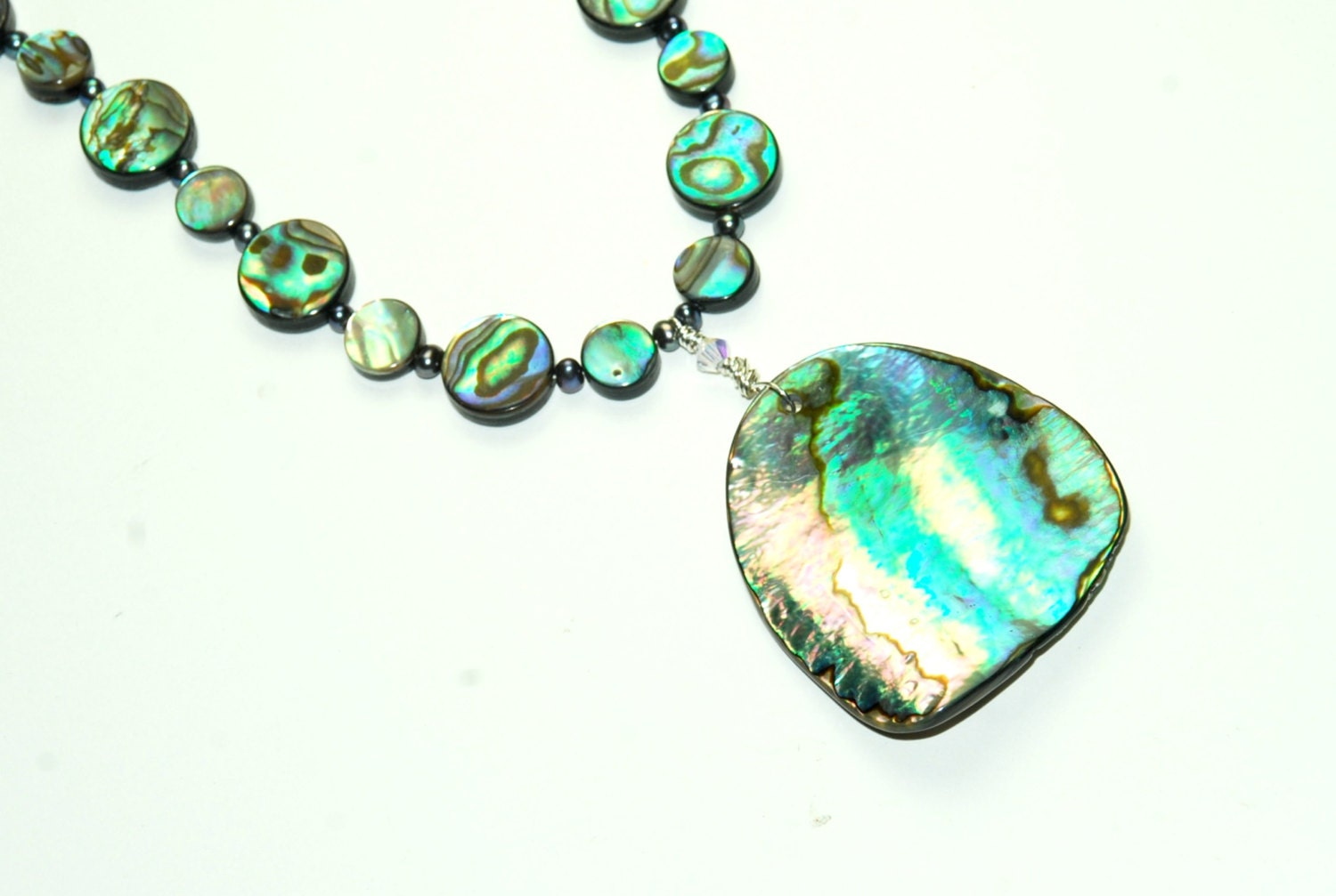 abalone necklace shell necklace necklace