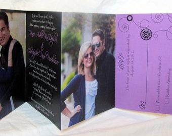 Wedding Invitation Suite -- All In One Modern Photo Invitations  - (149)