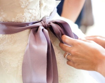"Fresco Lilac Light Purple 2"" 50mm Wide Silky Satin Ribbon Wedding Gown Sash"