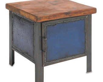 Blue Cabinet End Table or Side Table Bedside Table