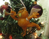 """Vintage Garfield the Cat Christmas Holiday Ornament """"Hark! The Herald Angel"""""""