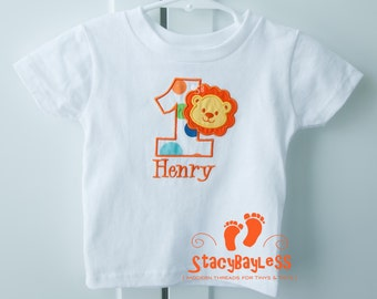 Personalized Lion Birthday Shirt - choose your Font - ON SALE