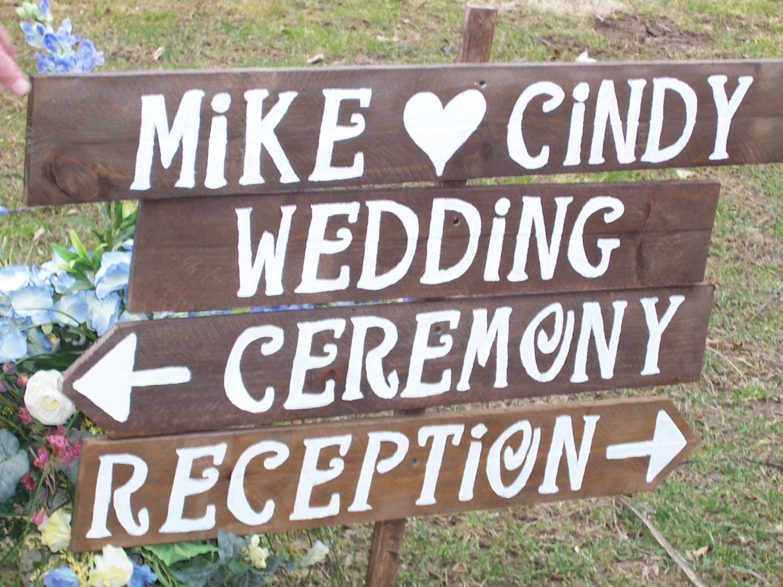 Rustic Wedding Signs Wood Signs Beach
