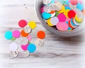 Circle Confetti Mix / Party Favor / 500 Pieces / Table Confetti / Party Confetti