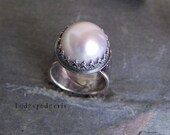 Simplicity - Pearl and Sterling Silver Artisan Ring