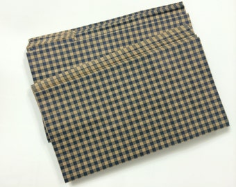 20 Navy gingham check paper bags