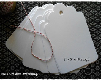 Extra Large White Tags 75 ct.