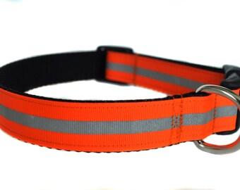 Orange Reflective Dog Collar