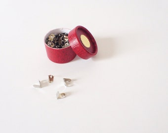Tiny Paper Fasteners (Silver)